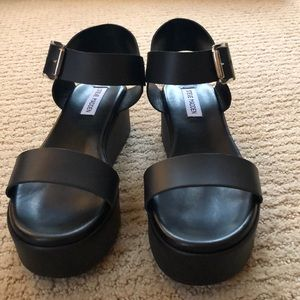 c61ae11dadd Steve Madden Recover Black Leather Sandals